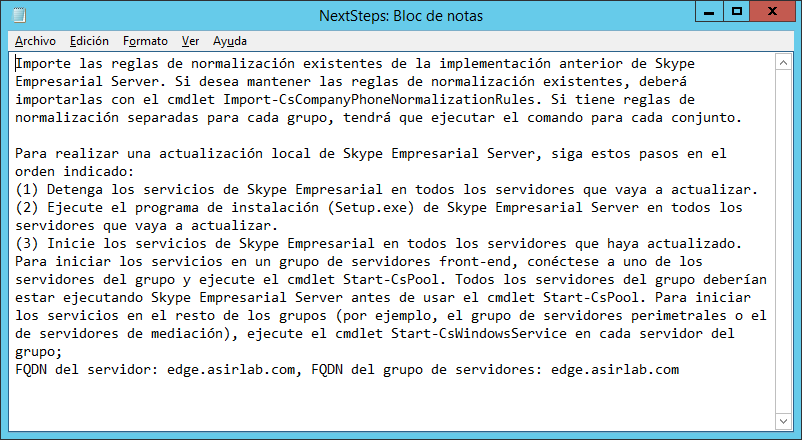Migrar Lync Server 2013 ST a Skype4B ST_Actualizando_Front_END_8.png