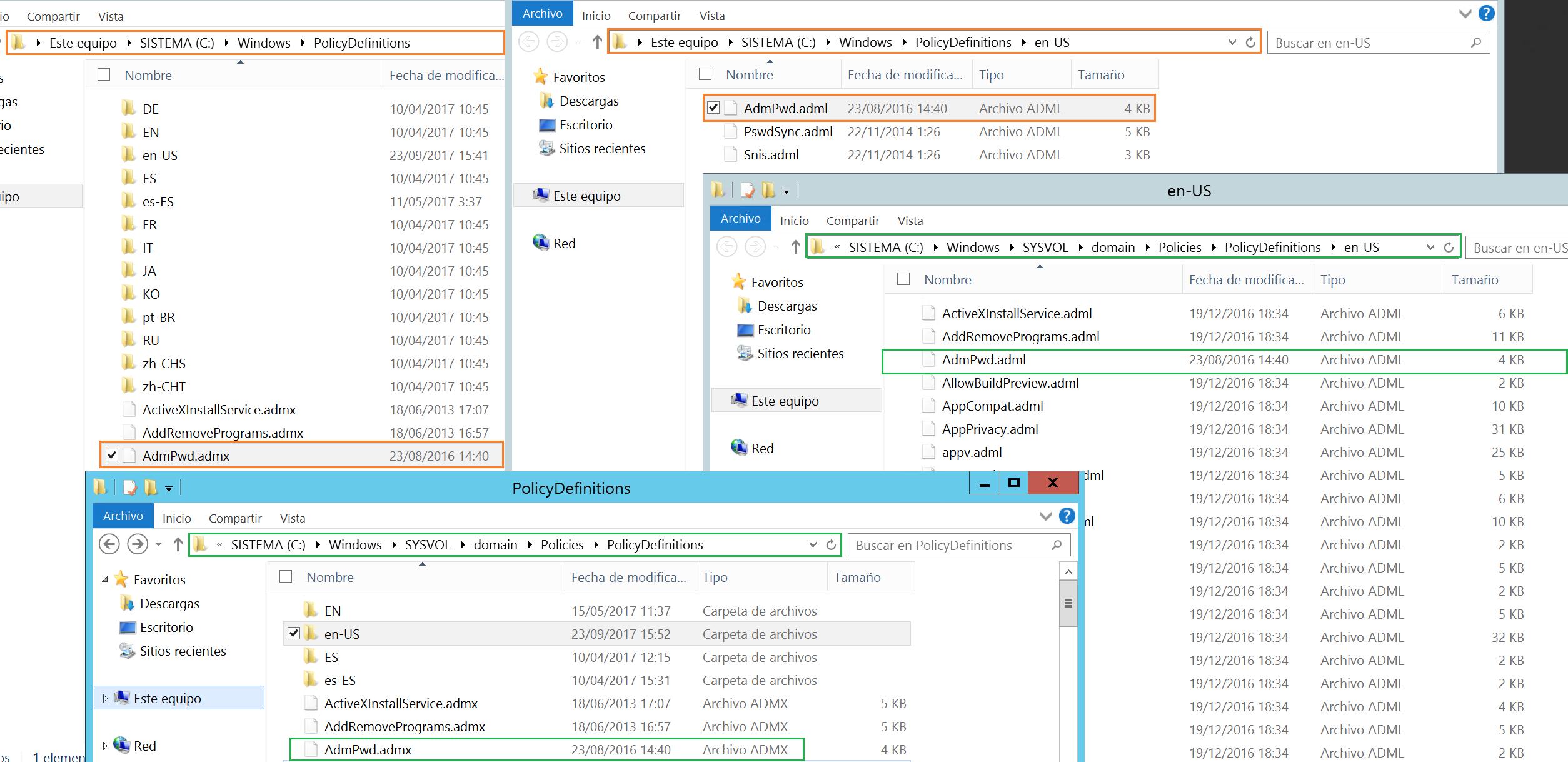 Configurar Local Administrator Password Solution (LAPS) vía GPO en ...